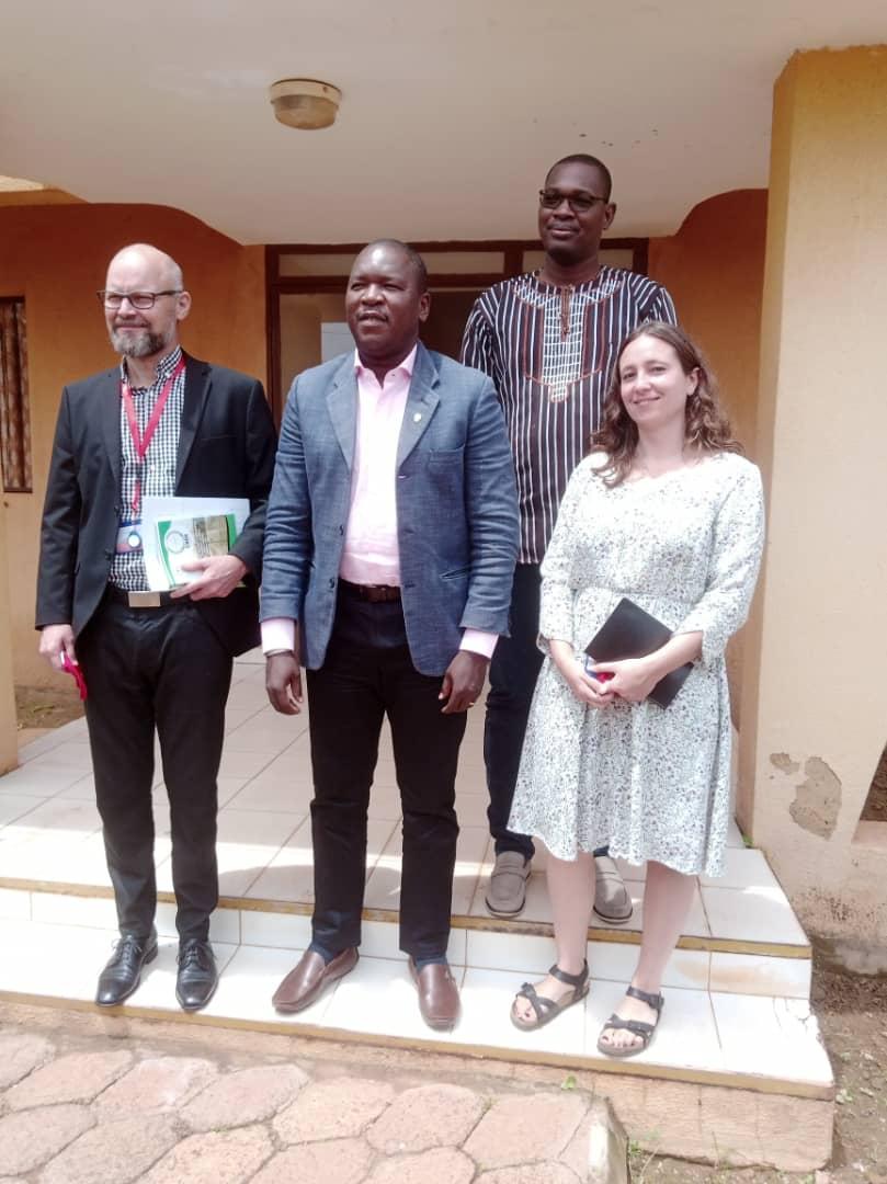 Visite de courtoisie d'une délégation de l'ambassade du Danemark au Burkina au Président de la CNDH